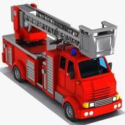Cartoon brandweerwagen 2 3d model
