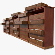 Simple Wooden office Document Cabinet archive files record repository ID paper identity (2)(3) 3d model