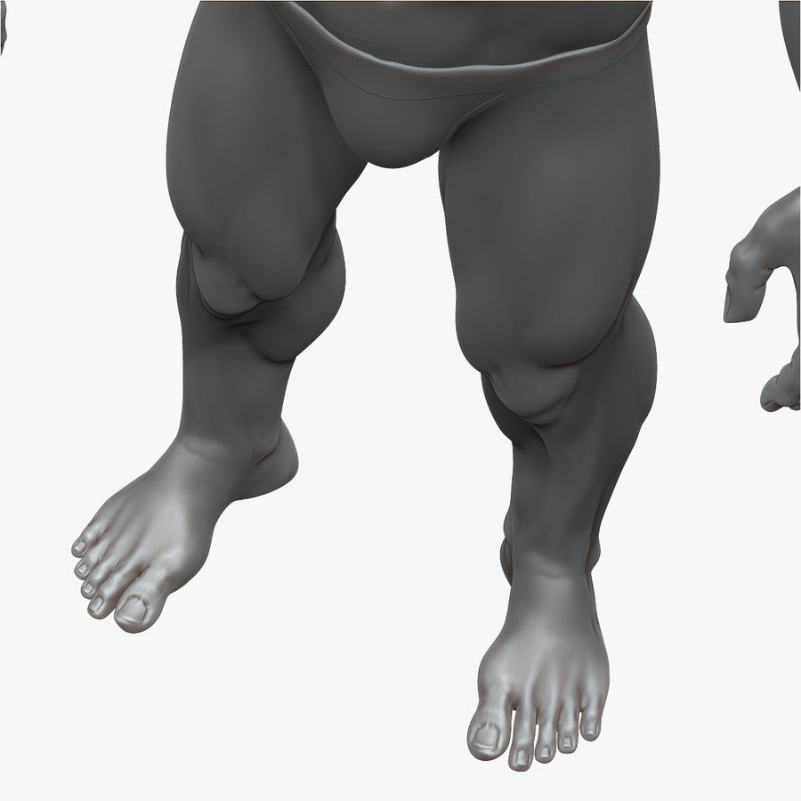 Muscular Man 3 Zbrush Sculpt royalty-free 3d model - Preview no. 8