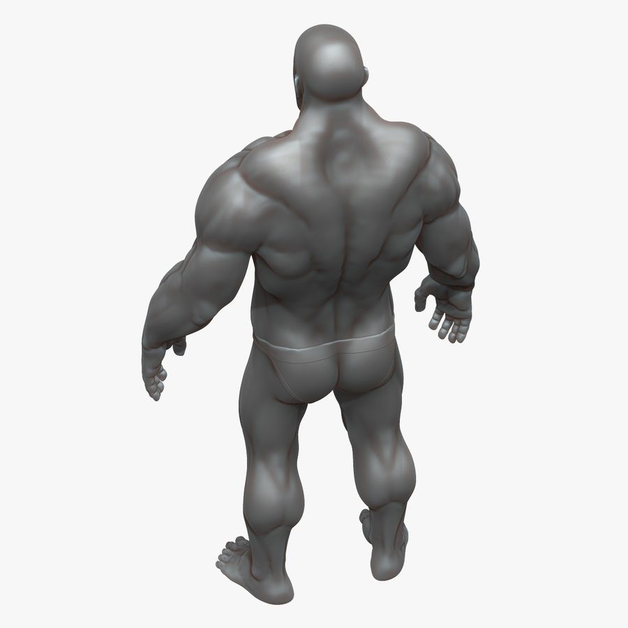 Muscular Man 3 Zbrush Sculpt royalty-free 3d model - Preview no. 3