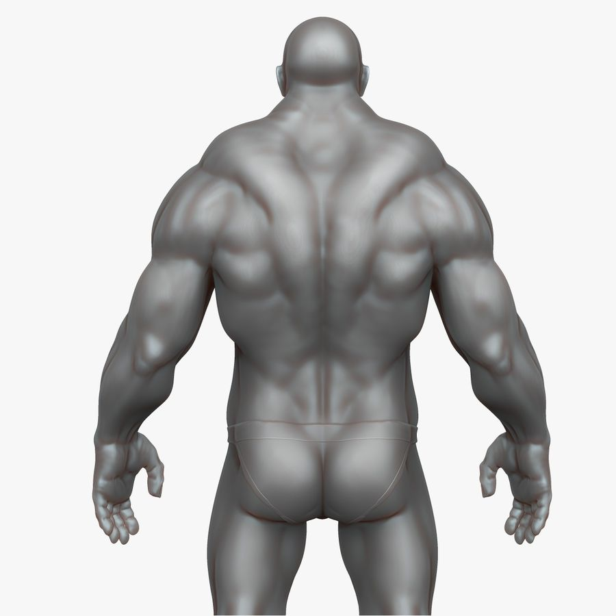Muscular Man 3 Zbrush Sculpt royalty-free 3d model - Preview no. 5