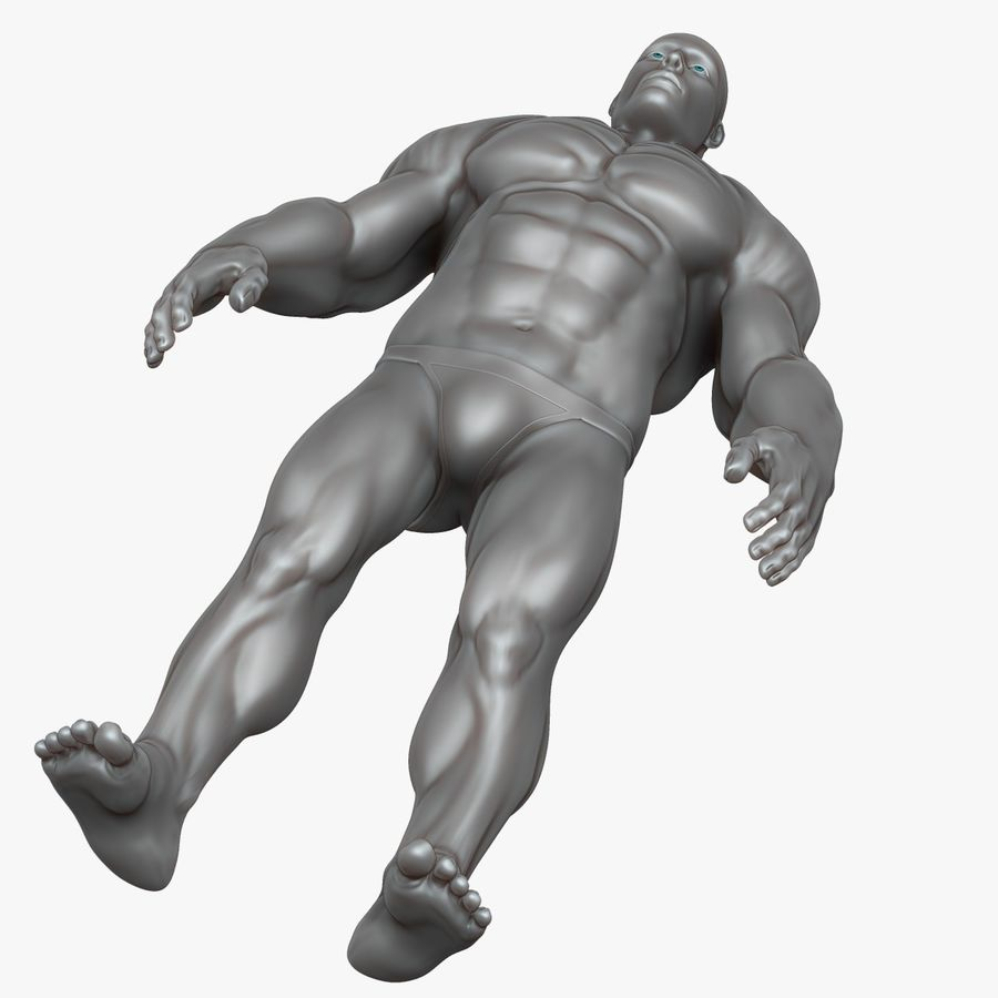 Muscular Man 3 Zbrush Sculpt royalty-free 3d model - Preview no. 9