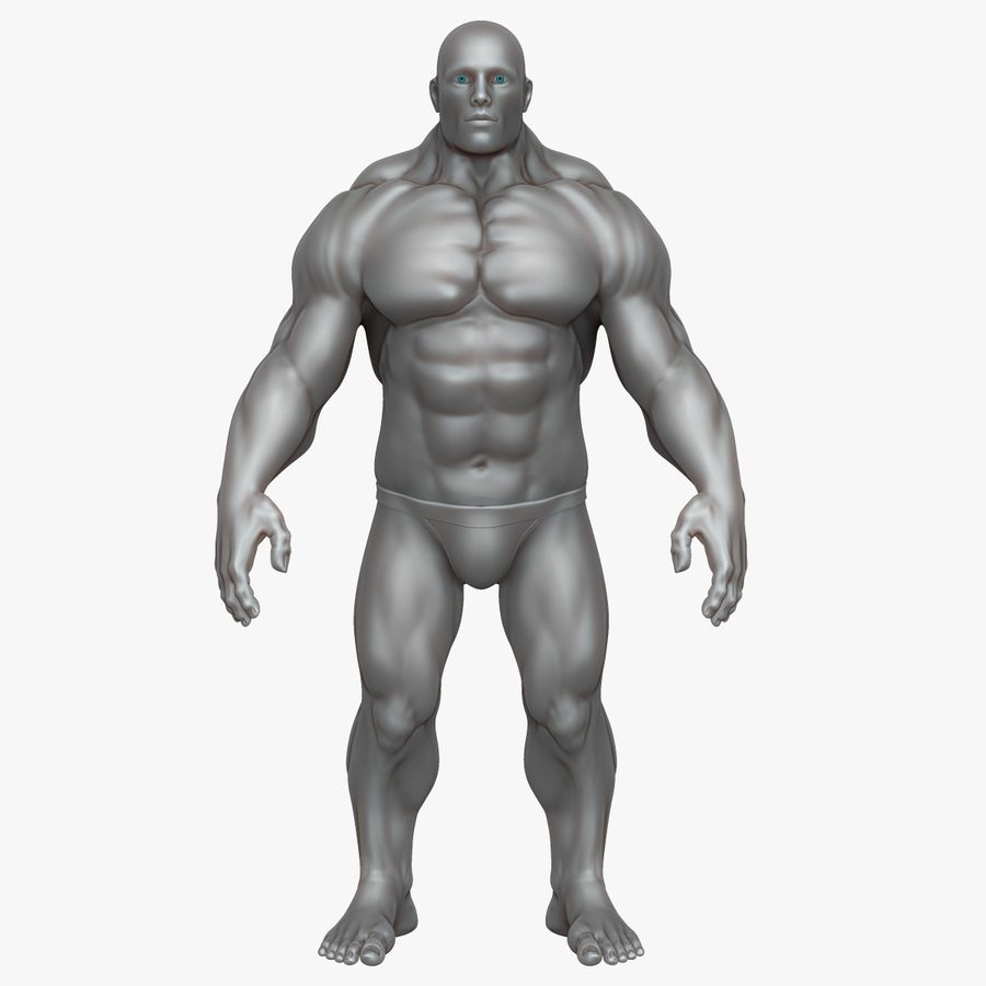 Muscular Man 3 Zbrush Sculpt royalty-free 3d model - Preview no. 10