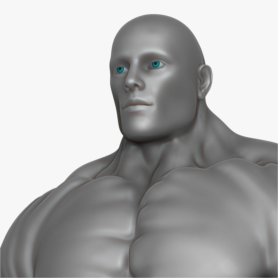Muscular Man 3 Zbrush Sculpt royalty-free 3d model - Preview no. 16