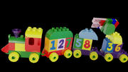 Duplo Train number set and bricks 3d model