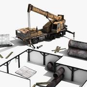 Crane Scene 3d model