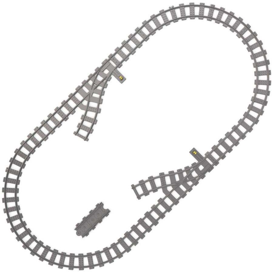 Lego Toy Railroad royalty-free 3d model - Preview no. 7