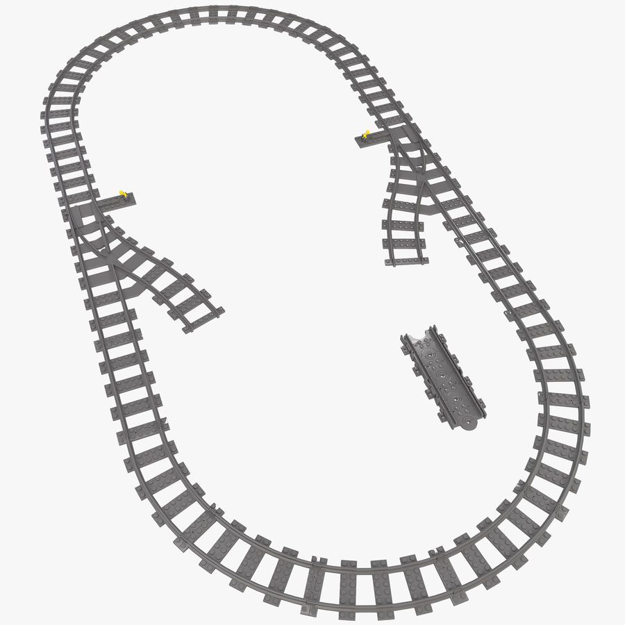 Lego Toy Railroad royalty-free 3d model - Preview no. 1