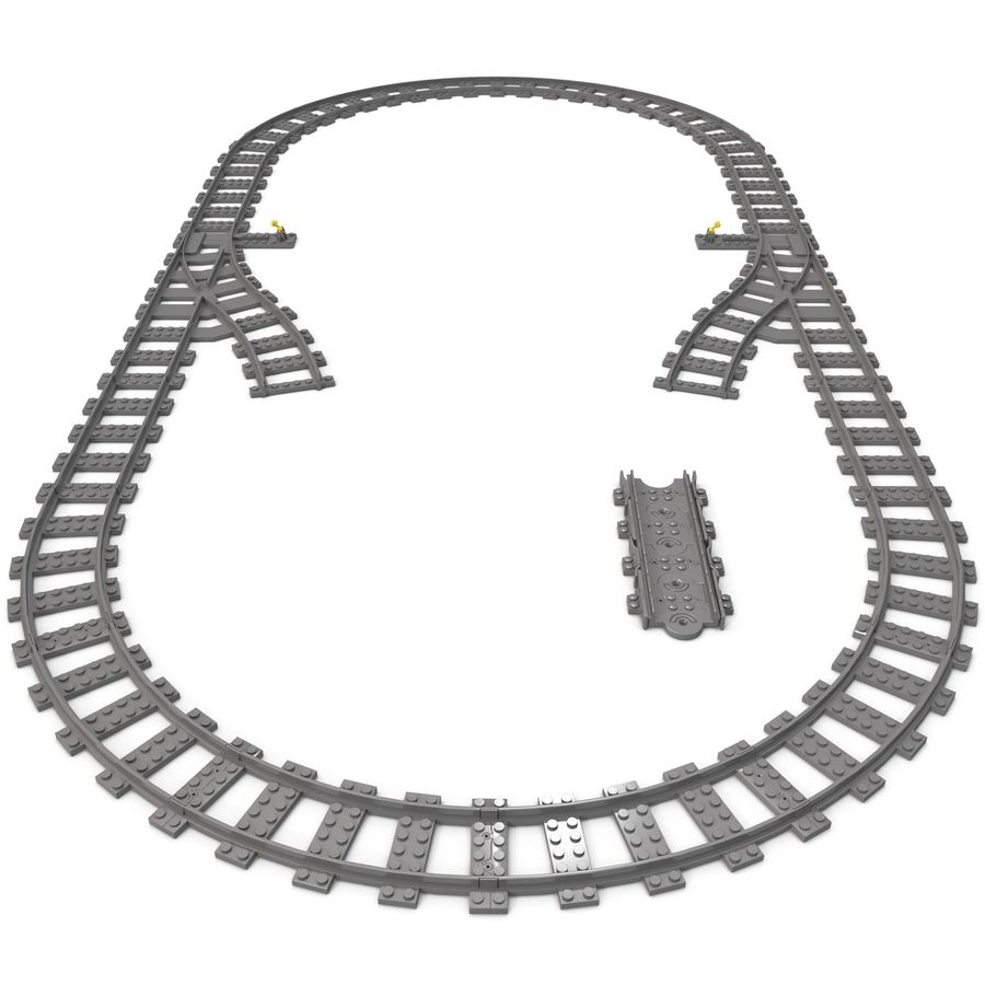 Lego Toy Railroad royalty-free 3d model - Preview no. 6