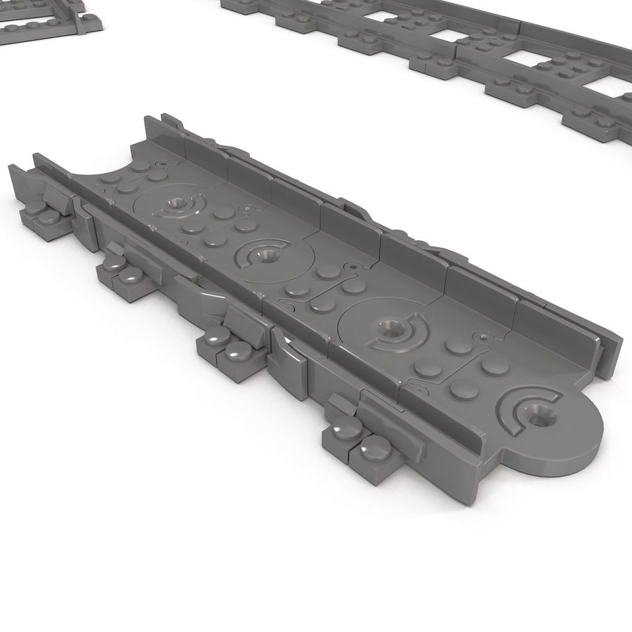 Lego Toy Railroad royalty-free 3d model - Preview no. 13