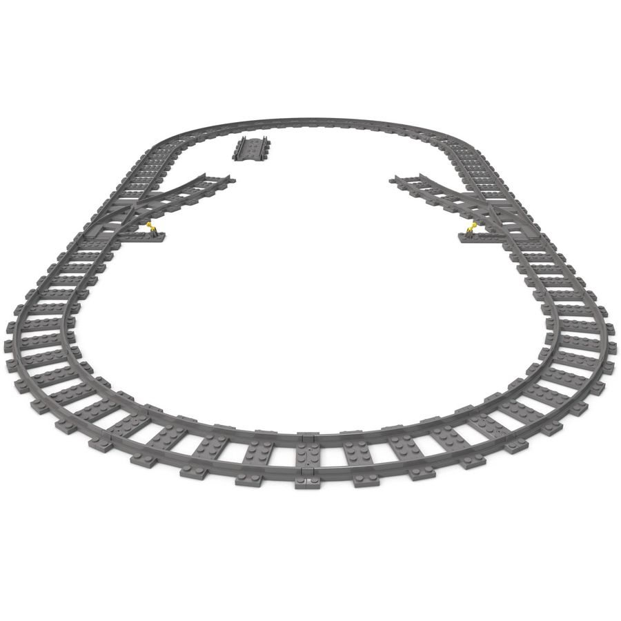 Lego Toy Railroad royalty-free 3d model - Preview no. 4