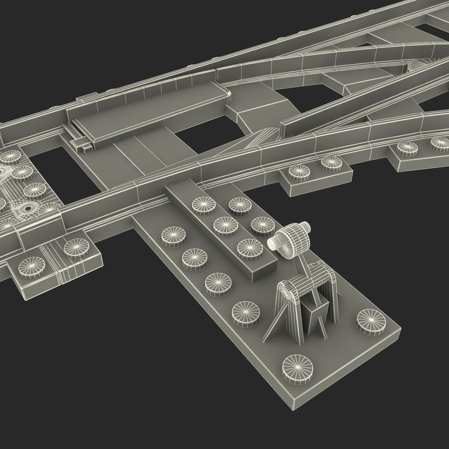Lego Toy Railroad royalty-free 3d model - Preview no. 26