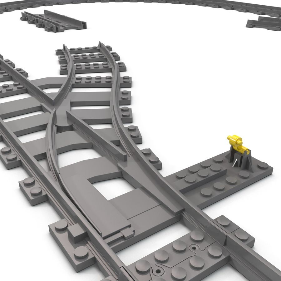 Lego Toy Railroad royalty-free 3d model - Preview no. 16