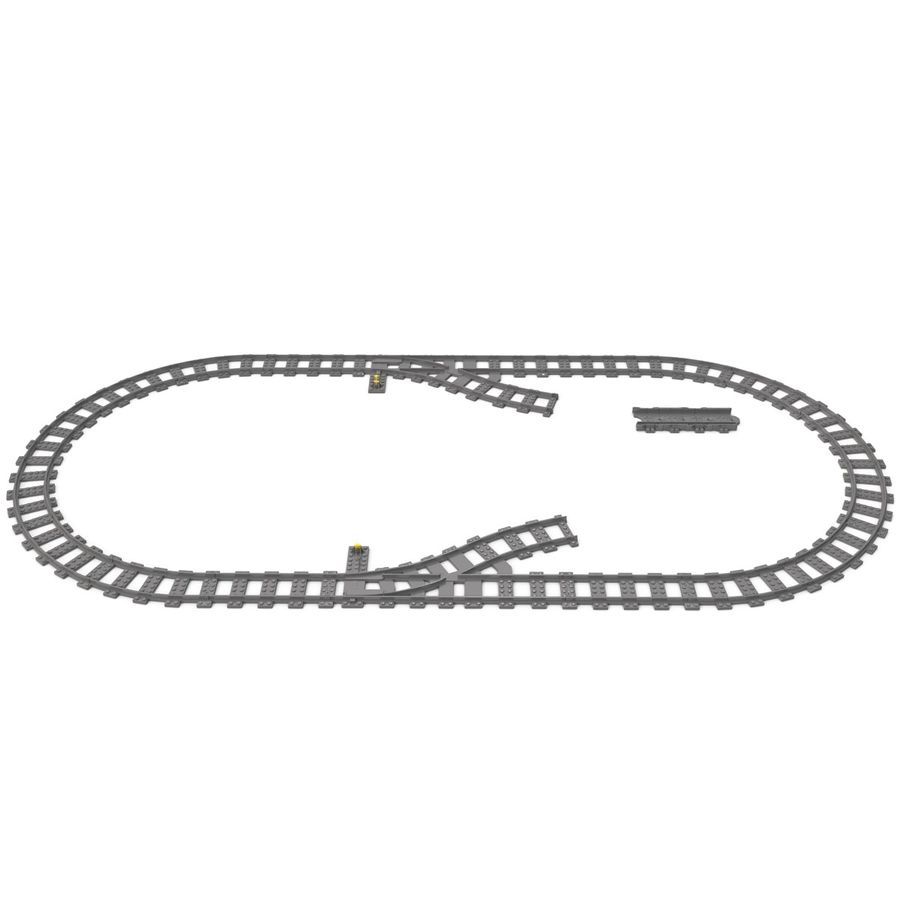 Lego Toy Railroad royalty-free 3d model - Preview no. 5