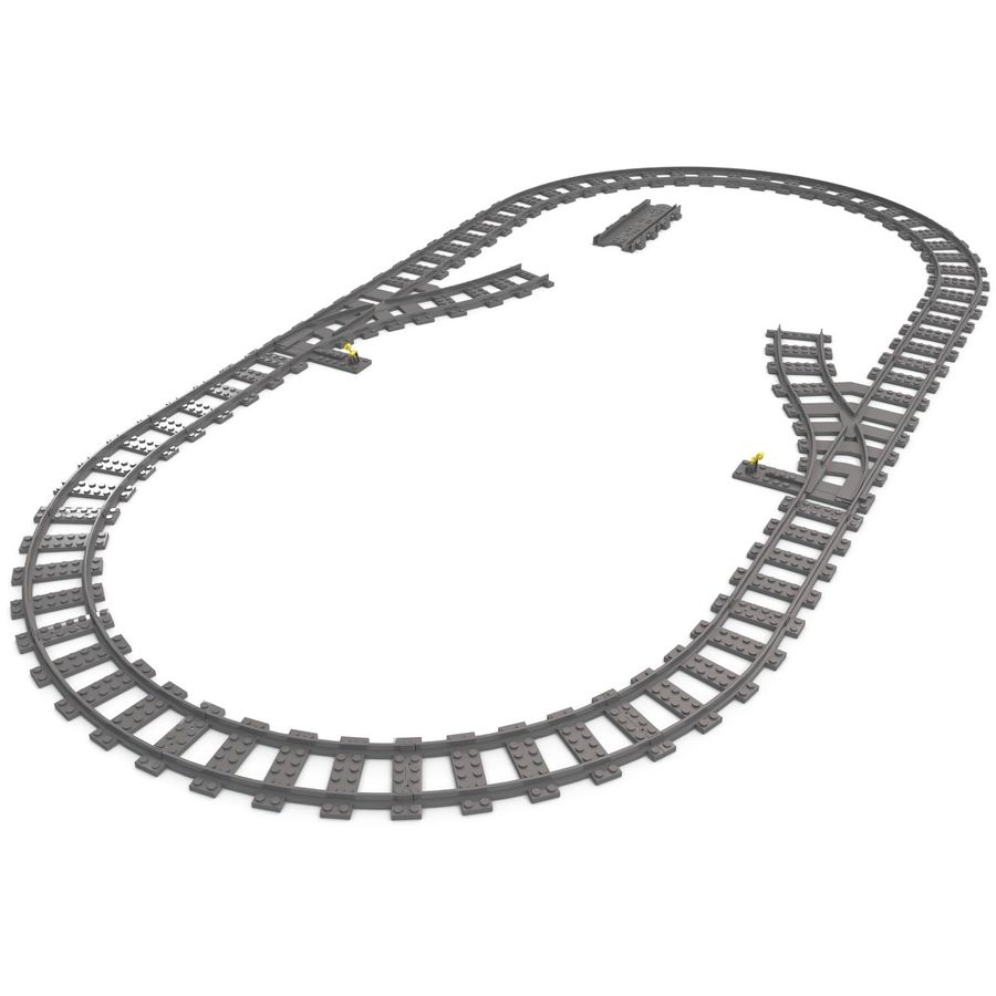 Lego Toy Railroad royalty-free 3d model - Preview no. 11