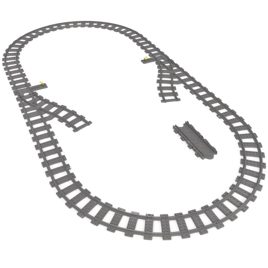 Lego Toy Railroad royalty-free 3d model - Preview no. 12