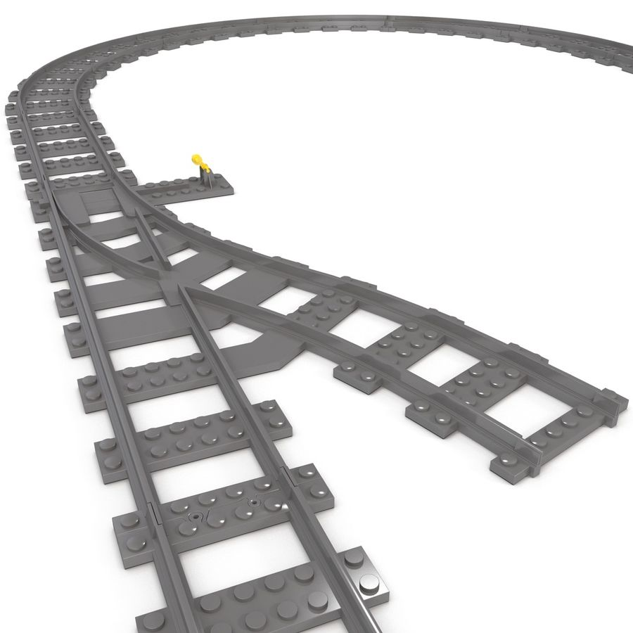 Lego Toy Railroad royalty-free 3d model - Preview no. 17