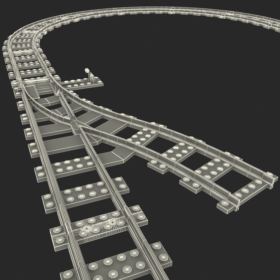 Lego Toy Railroad royalty-free 3d model - Preview no. 28