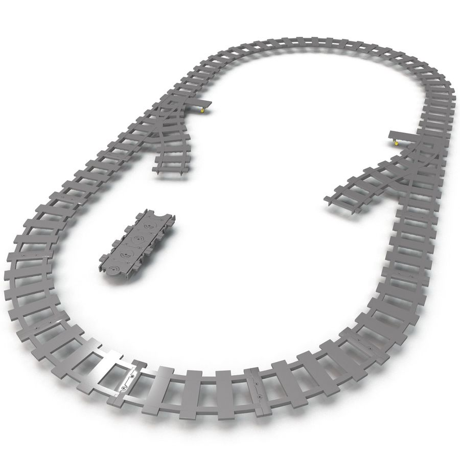 Lego Toy Railroad royalty-free 3d model - Preview no. 9