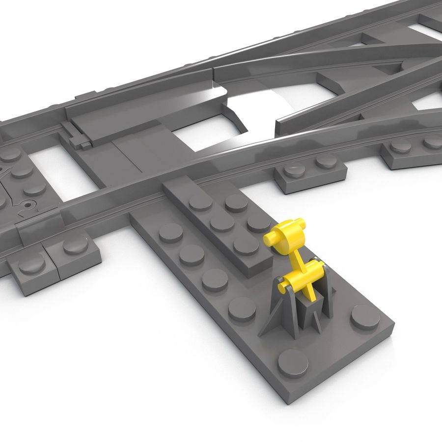 Lego Toy Railroad royalty-free 3d model - Preview no. 15