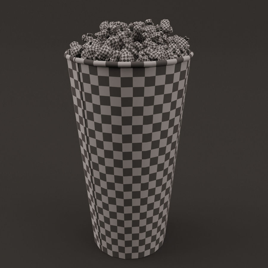 Popcorn Bucket 0,7L royalty-free 3d model - Preview no. 1