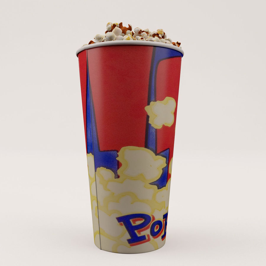 Popcorn Bucket 0,7L royalty-free 3d model - Preview no. 11