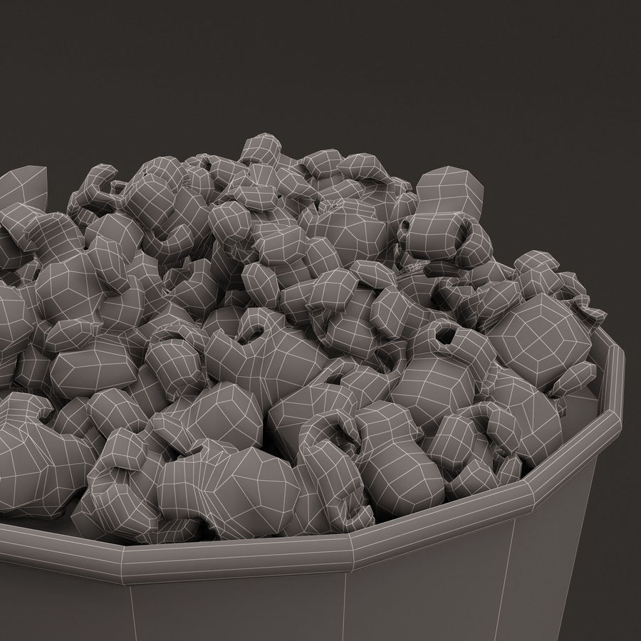 Popcorn Bucket 0,7L royalty-free 3d model - Preview no. 18