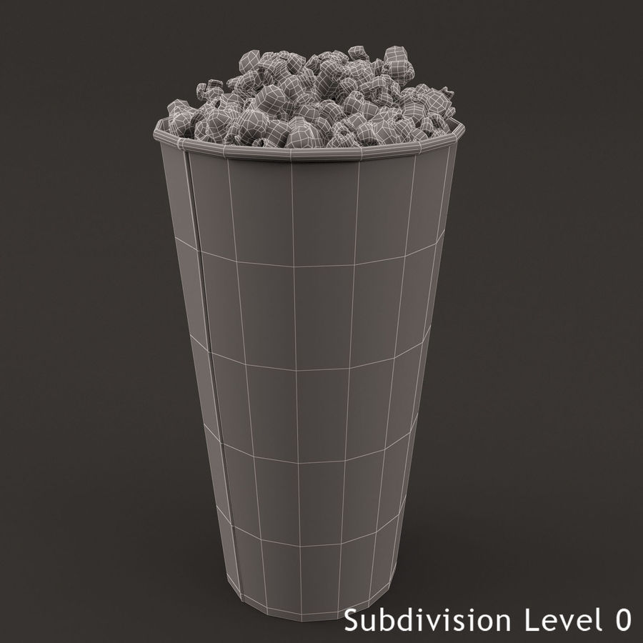 Popcorn Bucket 0,7L royalty-free 3d model - Preview no. 4