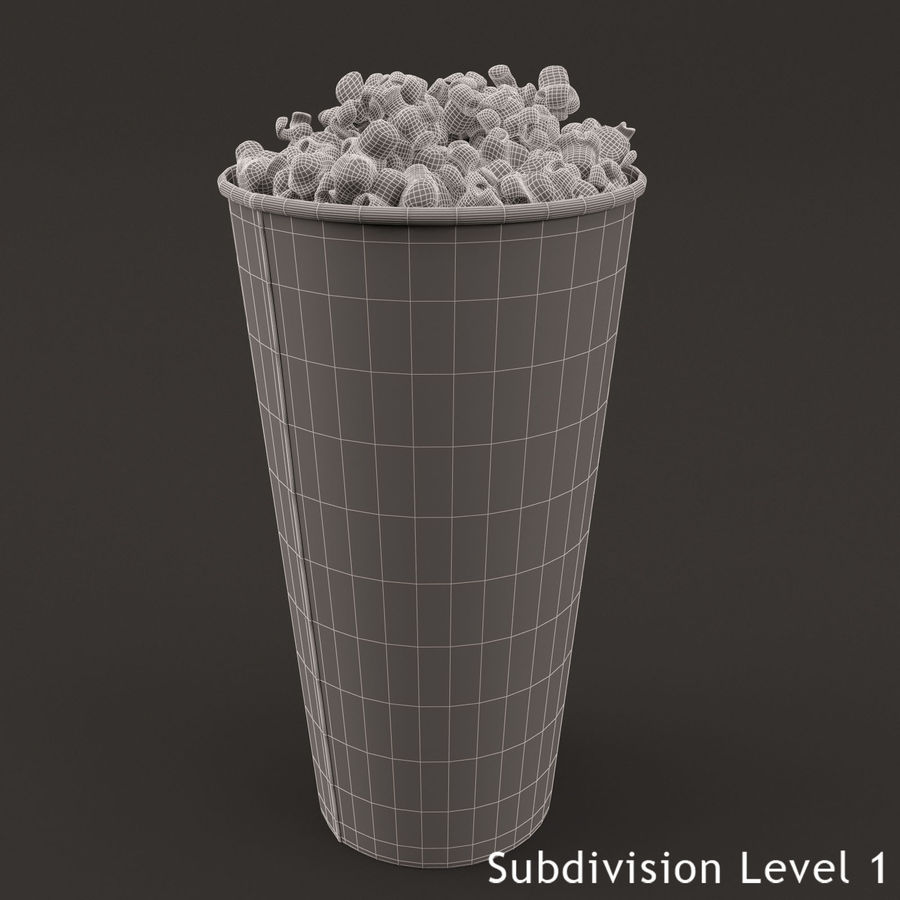 Popcorn Bucket 0,7L royalty-free 3d model - Preview no. 9