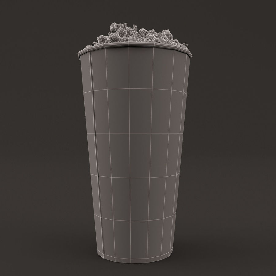 Popcorn Bucket 0,7L royalty-free 3d model - Preview no. 12