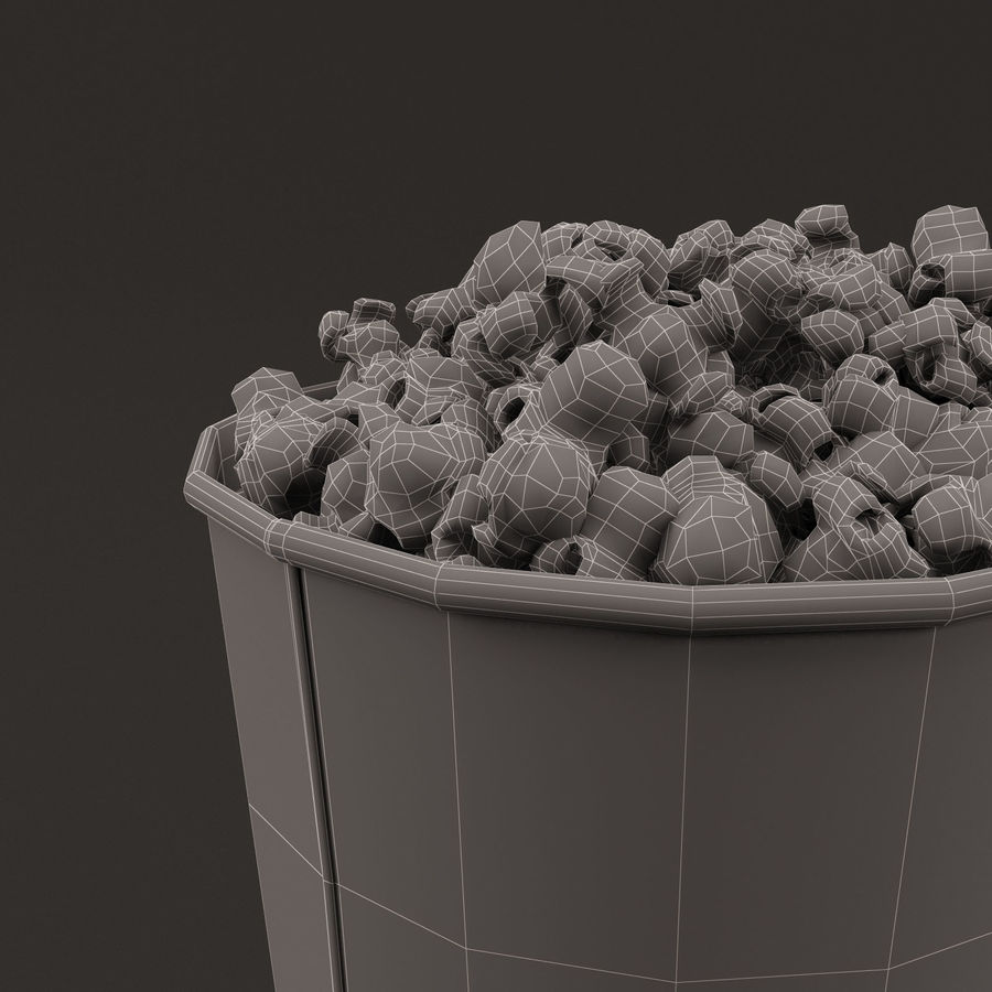 Popcorn Bucket 0,7L royalty-free 3d model - Preview no. 16