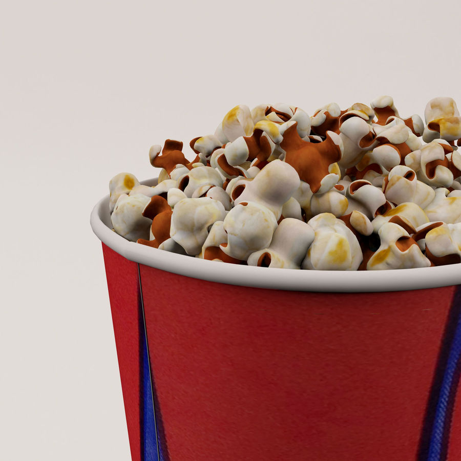 Popcorn Bucket 0,7L royalty-free 3d model - Preview no. 15