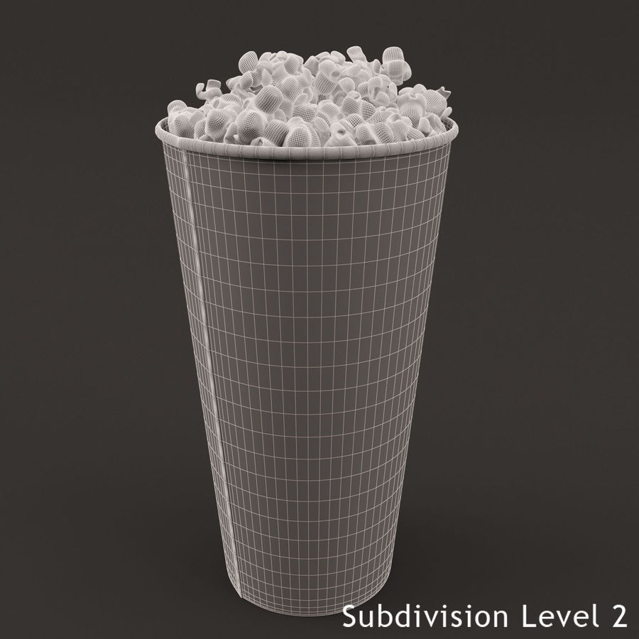 Popcorn Bucket 0,7L royalty-free 3d model - Preview no. 10
