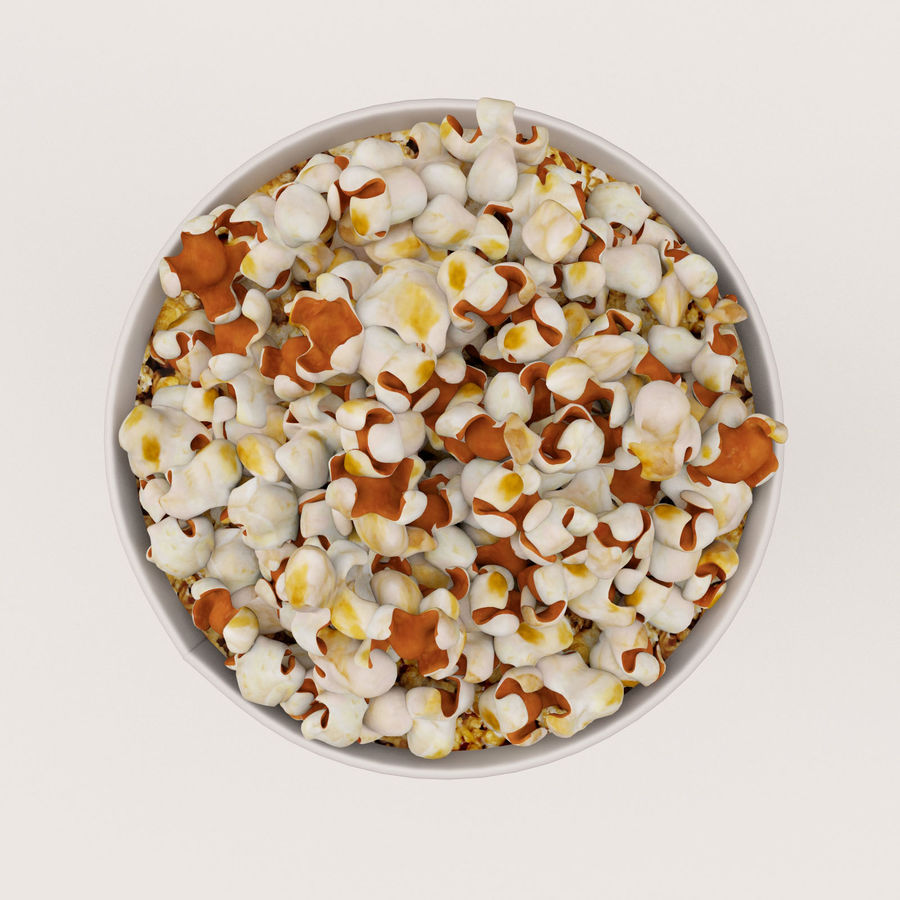 Popcorn Bucket 0,7L royalty-free 3d model - Preview no. 13