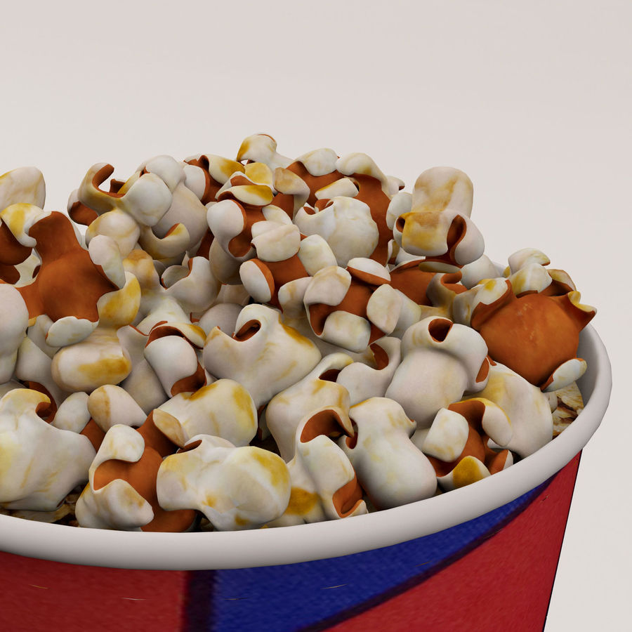 Popcorn Bucket 0,7L royalty-free 3d model - Preview no. 17