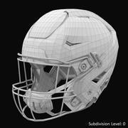 Riddel Speedflex头盔灰色哑光 3d model