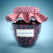 罐子里有蔓越莓HQ 3d model