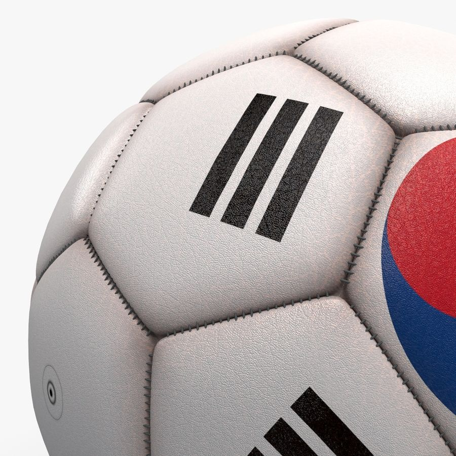 Soccerball pro clean Korea royalty-free 3d model - Preview no. 3