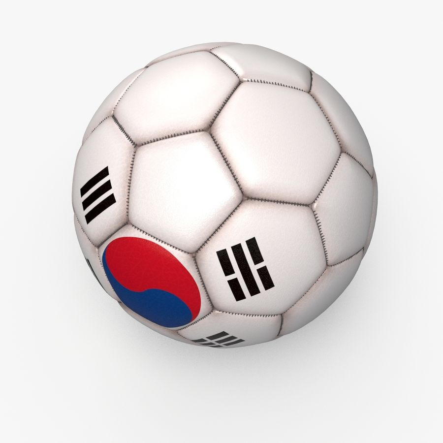 Soccerball pro clean Korea royalty-free 3d model - Preview no. 5