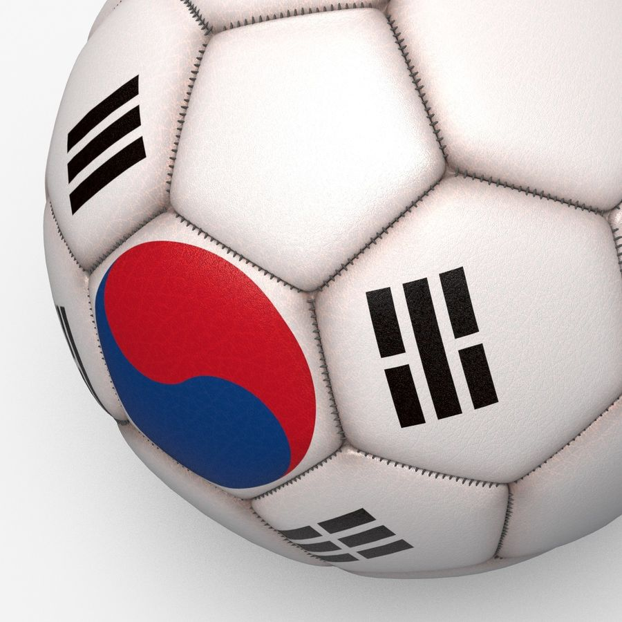 Soccerball pro clean Korea royalty-free 3d model - Preview no. 4