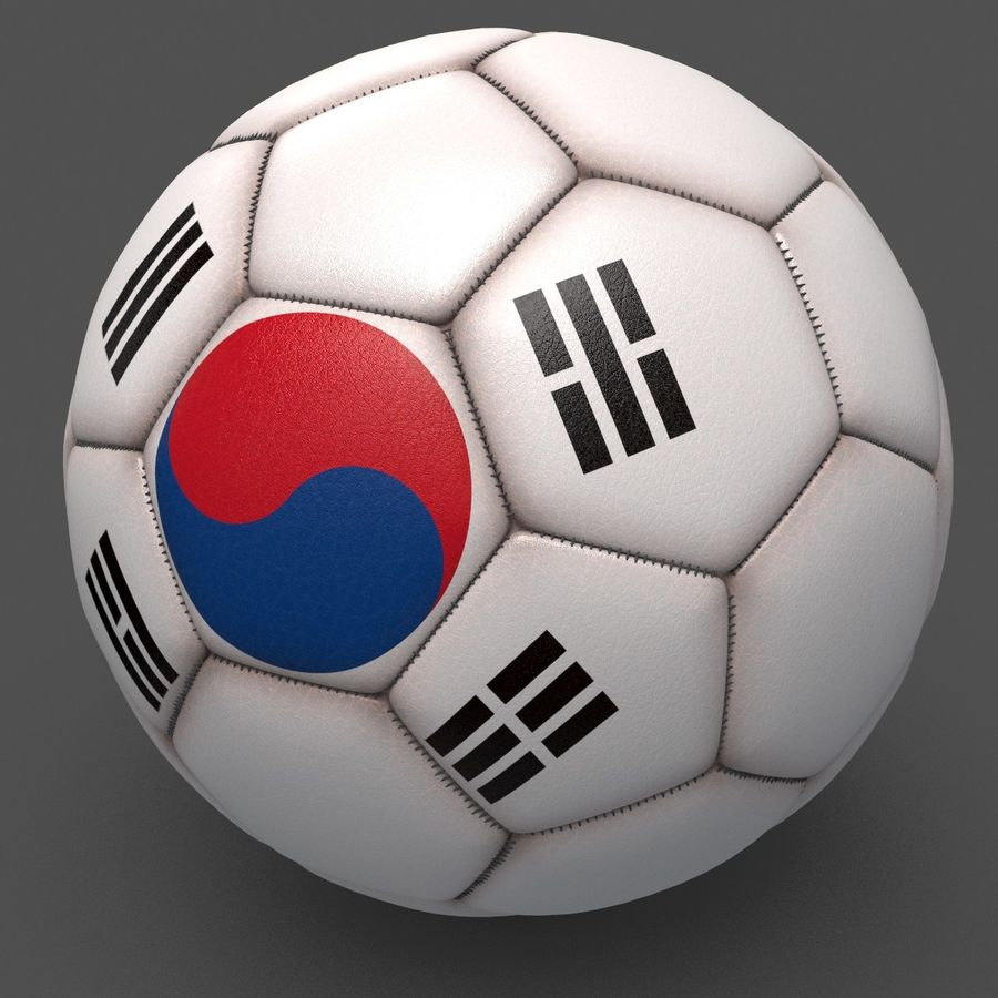 Soccerball pro clean Korea royalty-free 3d model - Preview no. 2