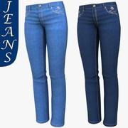 女人的牛仔裤 3d model