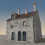 Italiaans gebouw 028 3d model