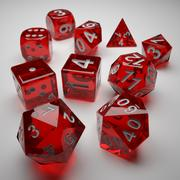 Role Playing Dice - Complete Set 3d model