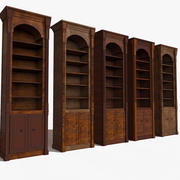 Luxurious Thin Slim ancient cupboard textured 3d model