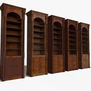 質感のある豪華で薄いスリムな古代食器棚 3d model
