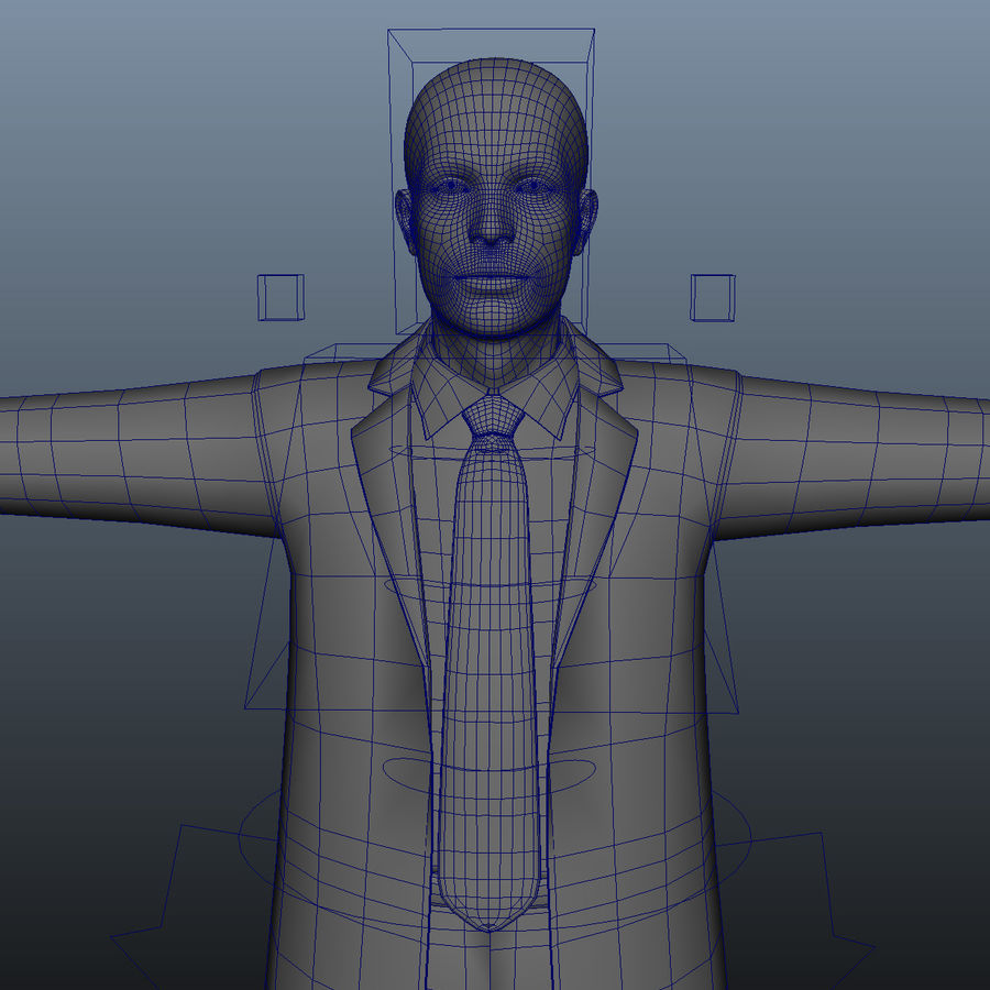 Maniquí humano armado cuerpo royalty-free modelo 3d - Preview no. 6