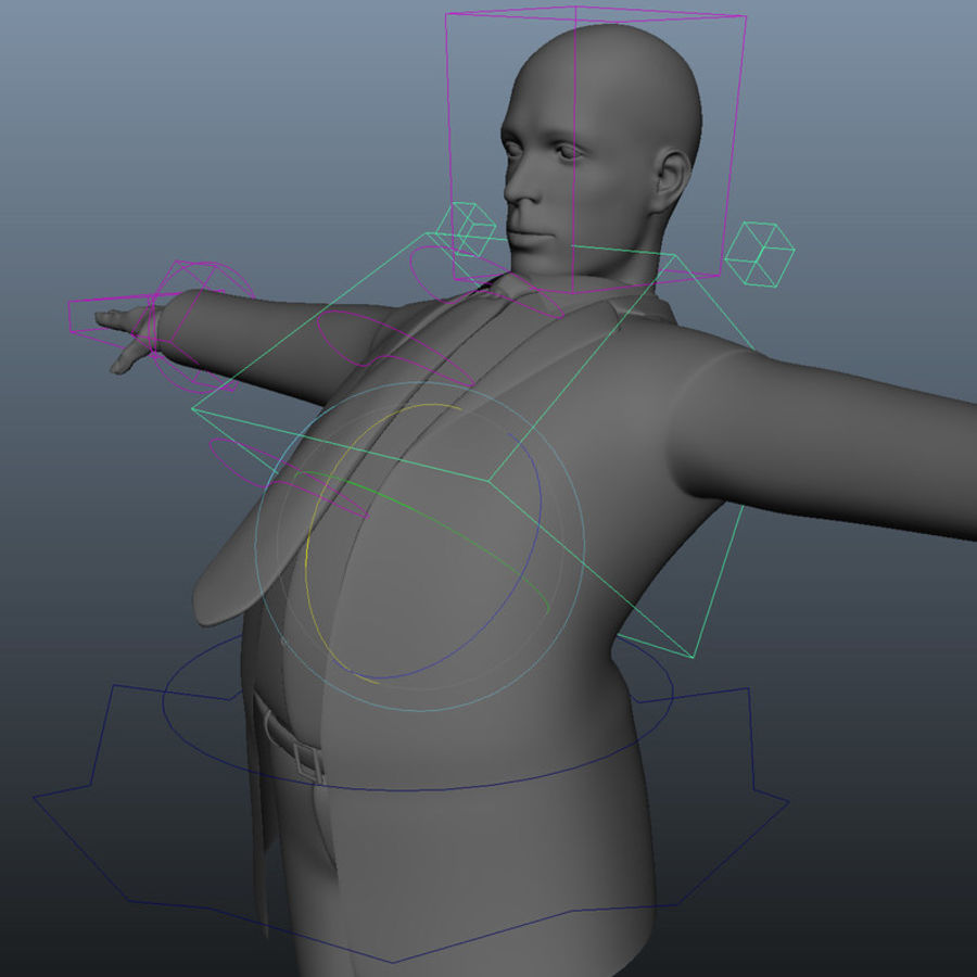 Maniquí humano armado cuerpo royalty-free modelo 3d - Preview no. 16