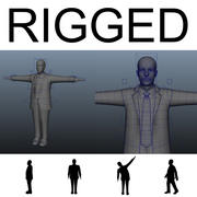 Human Mannequin rigged body 3d model