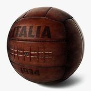 Vintage Futbol Topu İtalya 1934 3d model